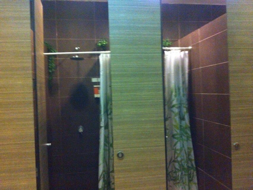 チャンギ空港のシャワールーム