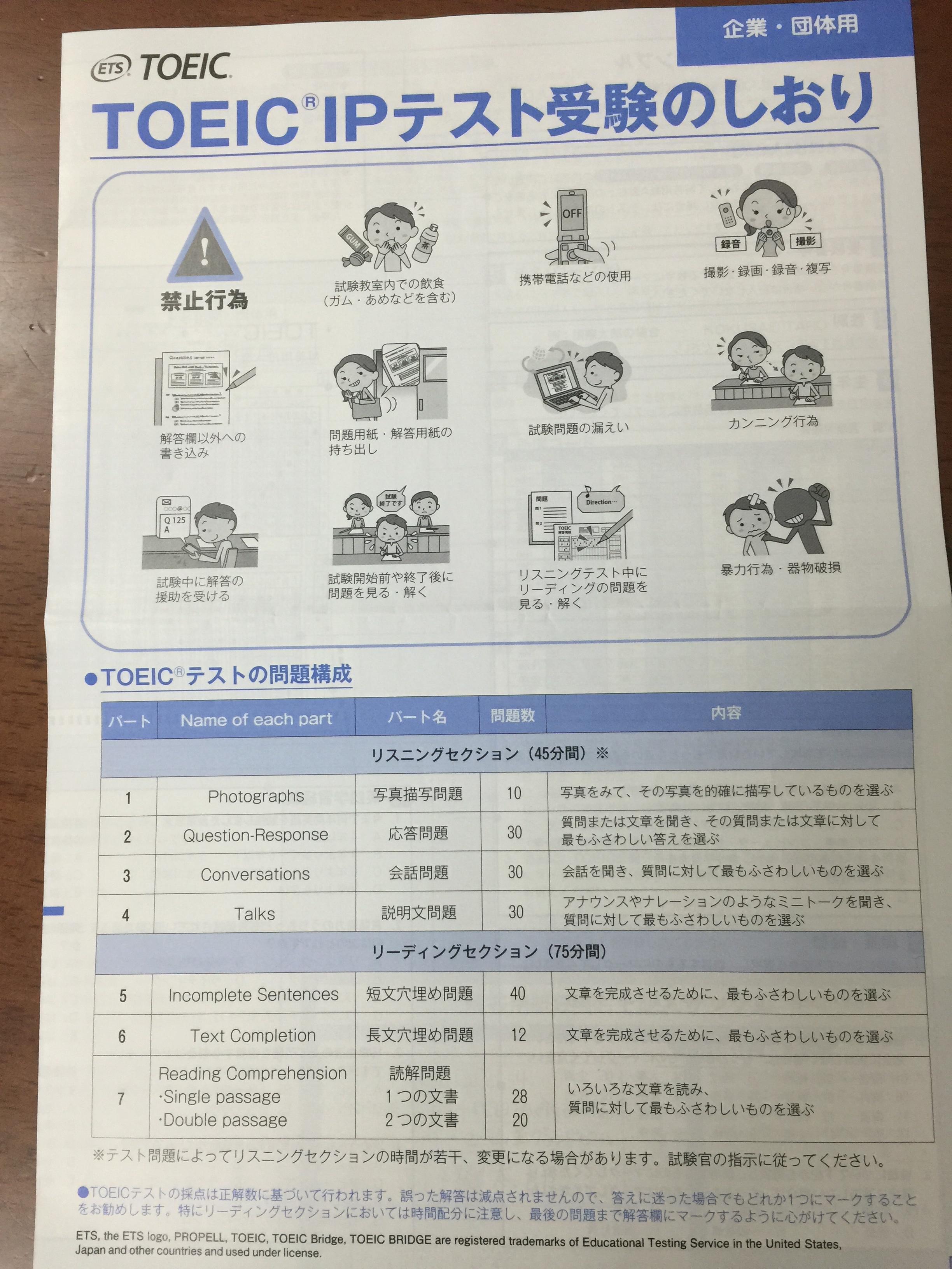 TOEIC (R) IPテスト 感想