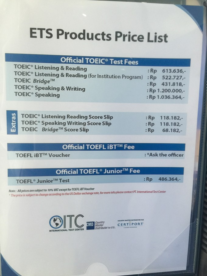 ETS Product Price List